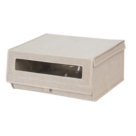 China Decorative Collapsible Shoe Storage Box With
