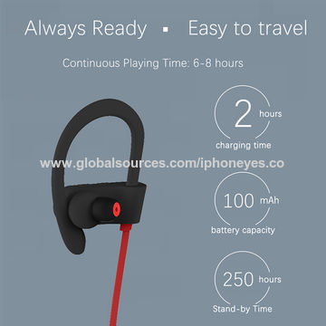 China Wireless Headset, Sport Earphones/Earbuds with Mic for Outdoor Running Workout