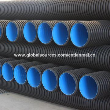 ... China China Maker 110mm-800mm HDPE Structured Twin Wall Corrugated Plastic Underground Sewer Soil Pipe & China Plastic Underground Sewer Soil Pipe from Jinan Manufacturer ...