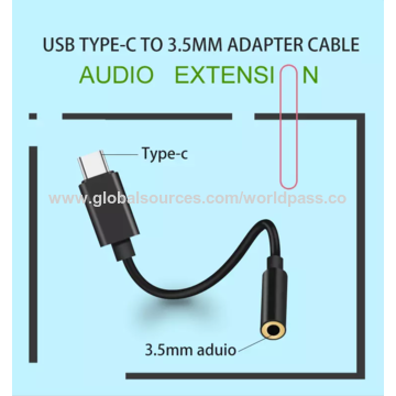 China 2019 Newest Type C To 3 5 mm audio adapter from