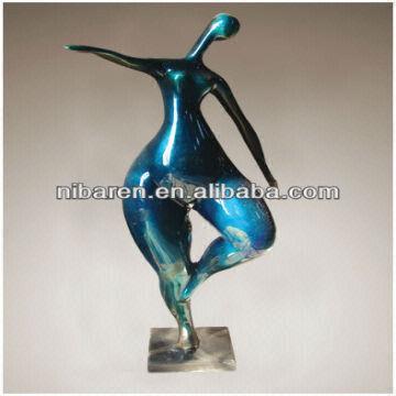 Home Decor Fiberglass Fat Human Body Abstract Art Sculpture