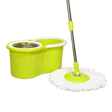 China Easy Wring And Clean Turbo Mop And Bucket Set 2 Microfibre