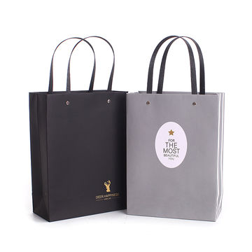 China Majorin hot selling gray paper bag gift with high quality