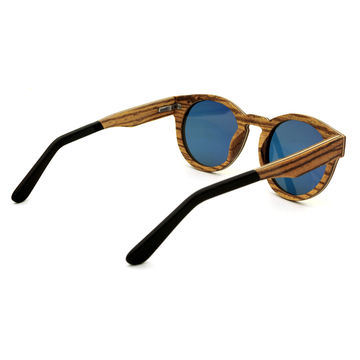 China Veneer acetate wooden sunglasses for sale