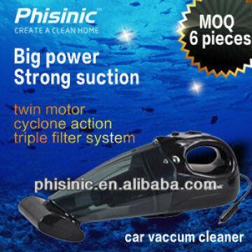 1 Twin motor car vacuum cleaner 2 Vehicle power supply 3