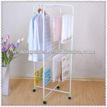 13 layer stainless steel clothes hanger drying rack 2Folding