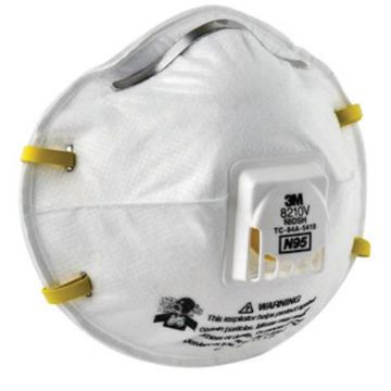 3m Disposable Respirator N95 Particulate 8210v Standard Global