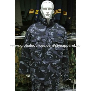 China 2017 hot selling ocean digital camouflage military jacket for men
