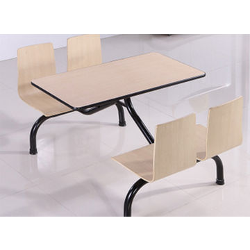 6a7c0fdbef0a ... China Dining table and chair wholesale cheap restaurant dining table  with attached chair ...