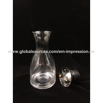China 1.5 L Clear carafe with stainless rubber lid