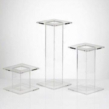 Acrylic Square Tube Cake Stand It Is Made Of Clear Acrylic