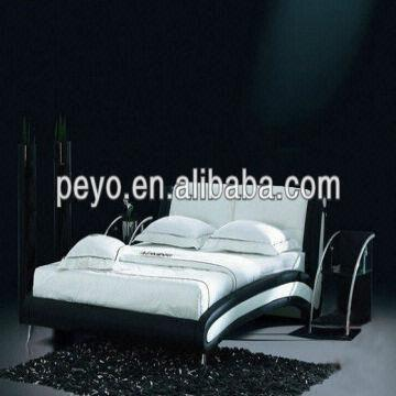 Black And White Modern French Bedroom bed bed Furniture(B02 ...