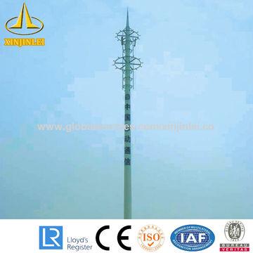 China Galvanized telecom antenna mast tower