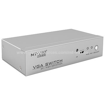 China 2 ports VGA switch full pin with IR and external controller