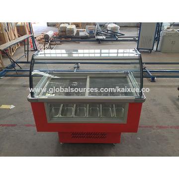 China 12 trays ice cream freezer showcase