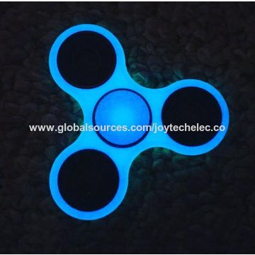 China ABS Glow In The Dark Finger Spinner Toy With CE RoHS Certificates