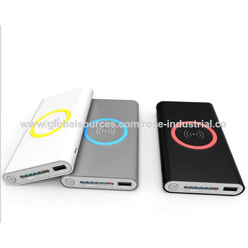 China 2-in-1 Qi Wireless/Wired 8000mAh Portable Charging Power Bank
