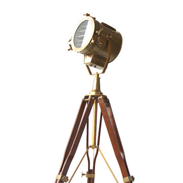Antique Vintage Old Century Modern Searchlight, Lamp Timber, Tripod ...