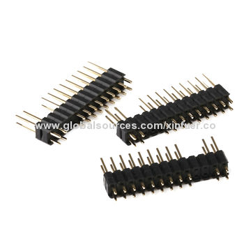 China 2.54mm Pin Header Connector, H=2.54mm Dual Row, straight type with Dual body