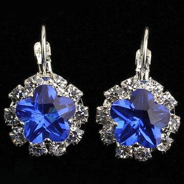with stud stone style blue diamond earrings halo refinement