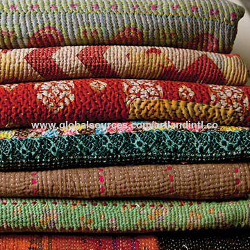 Quality Vintage Kantha Quilt Indian Reversible Pure Cotton Made ... : how to kantha quilt - Adamdwight.com