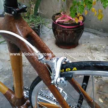 China Bicycle Parts/Bicycle Frames/Bamboo+Carbon Bike Frame and Fork