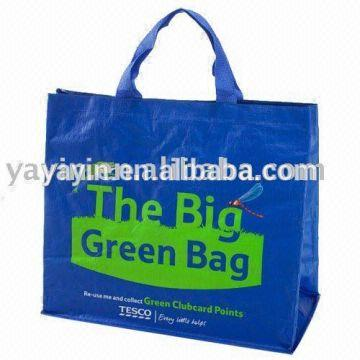 Fancy laiminated pp woven shopping bag/pp woven tote bag/hdpe ...