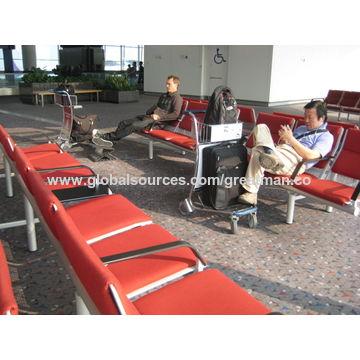 China Ergonomic folding height adjustable footrest for airport passenger