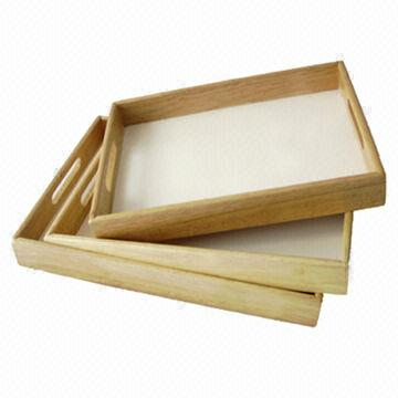 China 3 Piece Wooden Serving Tray Set, Suitable For Offering Food/Appetizer/
