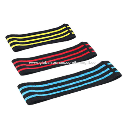 China Fabric Custom Logo Non-slip Hip Bands Resistance Bands Hip