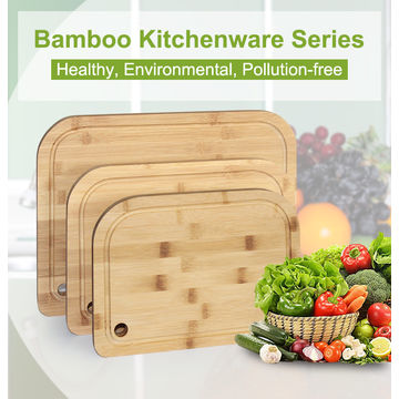 China Kitchen Fruit & Vegetable Cutting Board Set, Small Order, Eco-friendly, Custom Natural Bamboo