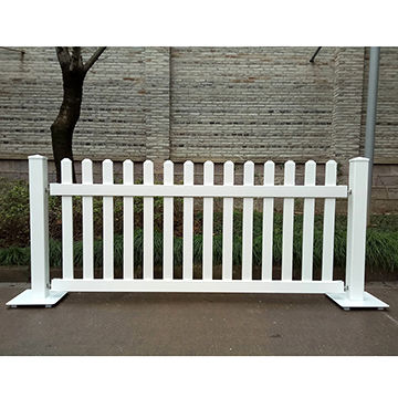 China Factory Price White Pvc Vinyl Temporary Fence Portable Movable