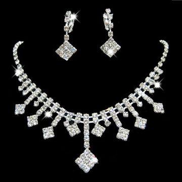 China Arrows Whole Rhinestone Wedding Jewelry Set Crystal Bridal Gifts Choker Necklace Earrings Sets