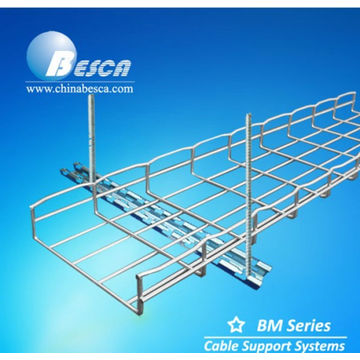 HDG wire mesh cable tray with threaded rod and brackets UL | Global ...