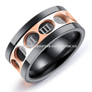 f22635981bd China 2018 New Fashion Cool luxury design titanium steel rings for Men ...