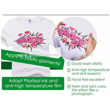 e7d763c1 ... China Custom offset heat transfer stickers for t-shirts, garment bags  and shoes ...