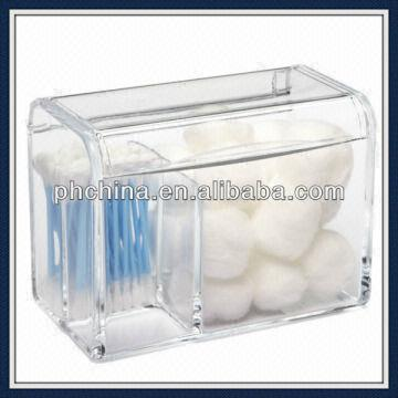 China 10 Years Factory Direct Sgs Transpa Cotton Swab Container Box Acrylic