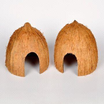We are manufacturers of coconut shell reptile huts  These are