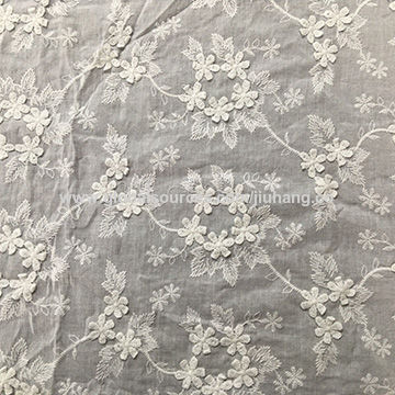 3d Embroidered Lace Fabric Made Of 100 Cotton Available In