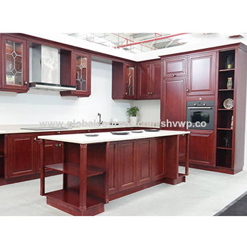 Solid wood farmhouse style kitchen cabinets   Global Sources