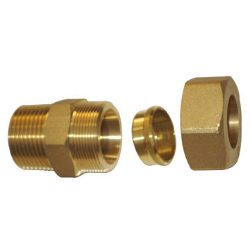 Male threaded straight brass pipe fittings measures 16 1 for Copper pipe cost
