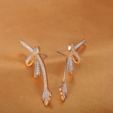 China 18k Gold Plated Fancy Small Earrings For Las Designs Pictures