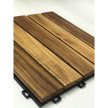 Patio Flooring Covering Teak Wood Outdoor Deck Tiles With