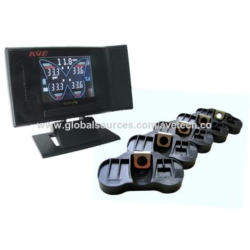 Taiwan Quality TPMS, tire pressure with butterfly color LCD display and internal sensor for passenger car
