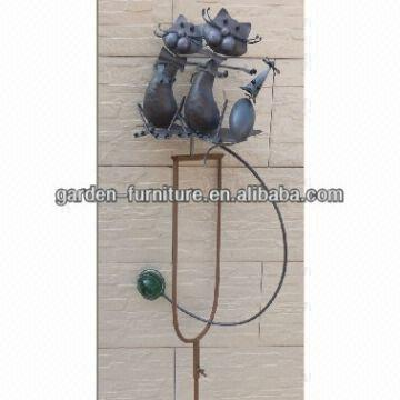 Gift Craft 2 Cats And Mouse Glass And Iron 12 25x7x65 75 Global