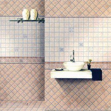 Glazed Rustic Tiles for Walls |Ceramic Interior Wall Tile, Measures ...