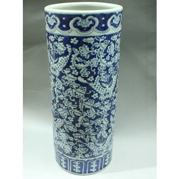 China Rywl04 Blue White Painted Fl Ceramic Umbrella