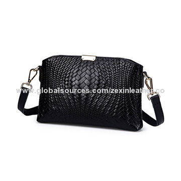 a52a71ae18f China Lady handbag High Quality Customized woven PU Leather lady Handbag  with Logo(ZX10186) ...