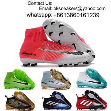 5784daff3eaa China Wholesale 2018 Cristiano Ronaldo High Top Soccer Shoes Men Women  Mercurial Superfly CR7 Soccer Boots