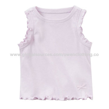 3196d606d217f China Girls' summer dress toddler tank tops 95% cotton 5% spandex on ...